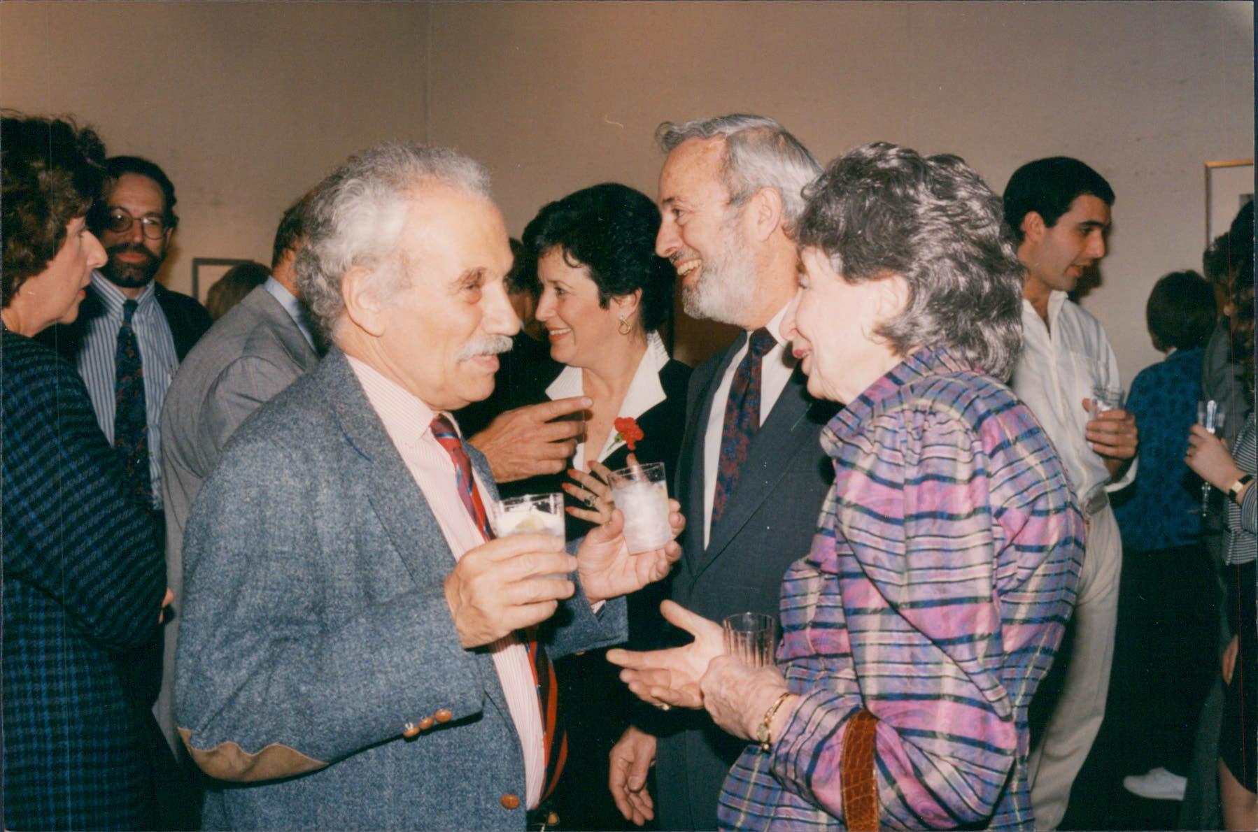 Tobiasse with Yvonne Halsman at Halsman Opening Nahan NY